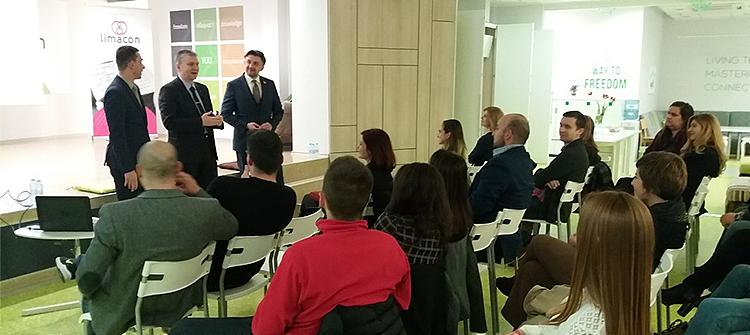Семинар на тема комуникациите като управленска функция, с лектори Любомир Аламанов, Александър Христов и Даниел Киряков 2